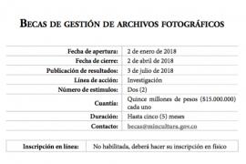 Becas de gestión de archivos fotográficos [Convocatoria]