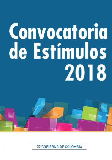 Convocatoria de estímulos 2018 mincultura Colombia