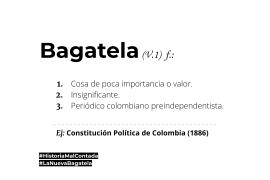 Bagatela | Diccionario | La nueva Bagatela