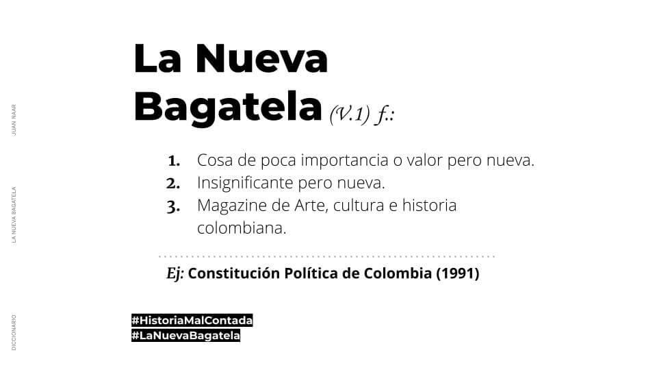 La nueva Bagatela | Diccionario | La nueva Bagatela